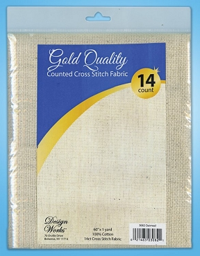 Oatmeal 14 count Silver Quality Counted Cross Stitch Fabric 60 in x 1 yd