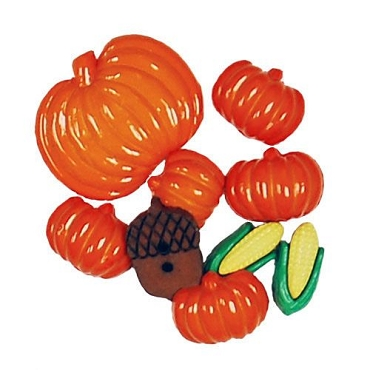 Autumn - 8 decorative buttons per package