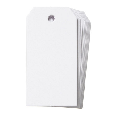 Cardstock Tags - White - Small - 1.62 x 3.25 inches - 25 pieces