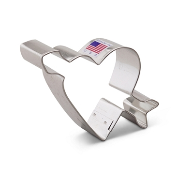 Heart w Arrow Cookie Cutter 3 3/4 inch Ann Clark