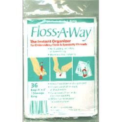 Floss-A-Way Bags - 36 piece with 3 inch Storage Ring