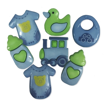 It's a Boy - 7 - decorative buttons per package