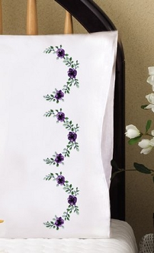Lilac Scallop - Pair of Standard Pillowcases by Tobin