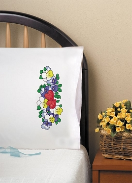 Two Hearts - Pair of Standard Pillowcases by Tobin
