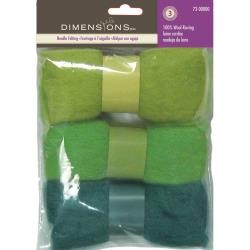Blue-Green Dimensions Feltworks Wool Roving Trio Pack 1.58 oz