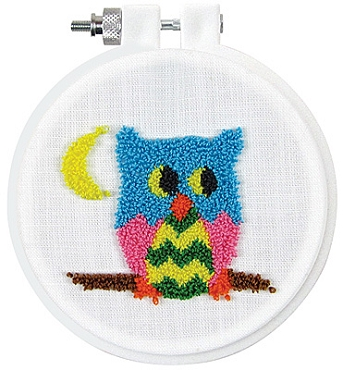 Owl 3.5 inch Round Punch Needle Kit