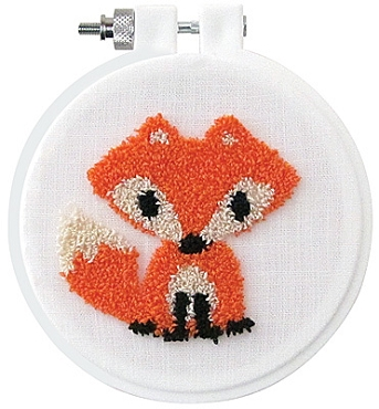 Fox Punch Needle Kit 3.5 inch round