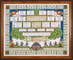 Family Tree Counted Cross Stitch Kit 16 x 20 inches