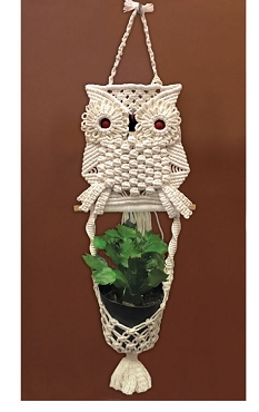 Owl Planter Macrame Kit by Zenbroidery