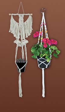Plant Hanger Macrame Kit by Zenbroidery Holds 4 x 8 in Pot