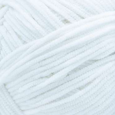 White NapTime - Super Soft Chenille  by Lion Brand Yarn