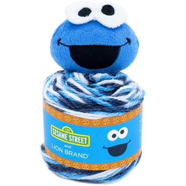 Cookie Monster - Lion Brand Sesame Street One Hat Wonder Yarn