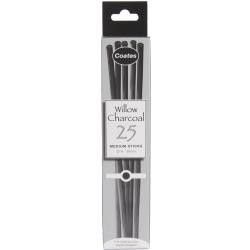Black Willow Charcoal Medium Sticks 4-6mm by Coates