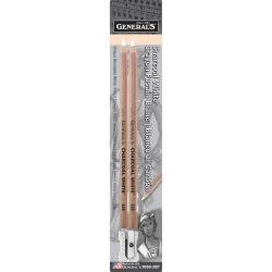 Charcoal White Pencils 2/pk by General's