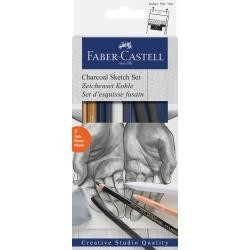 Charcoal Sketch Set - Faber Castell 7 piece set